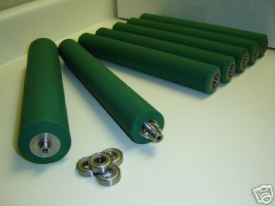 Halm Jet Press Rollers Kit BRAND NEW with bearings