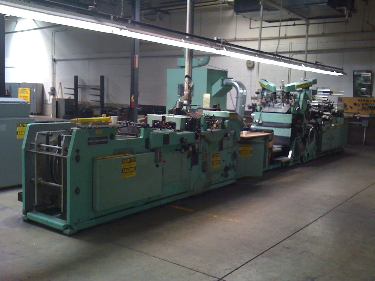 1980 FL SMITHE RA800 blank fed envelope making machine with window unit and 2/1 print