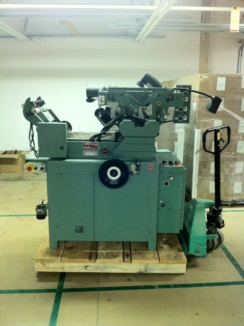 1996 Halm jet press 2 col perf reconditioned 12/2010 s/n JP5561