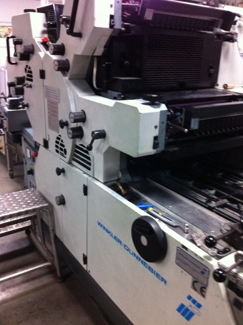 2006 WINKLER+DUNNEBIER 224 four color overprinting machine with UV dryer