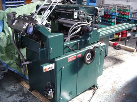 2006 Halm JPP-TWOD-3XL 2 color 3 inch XL machine in excellent condition