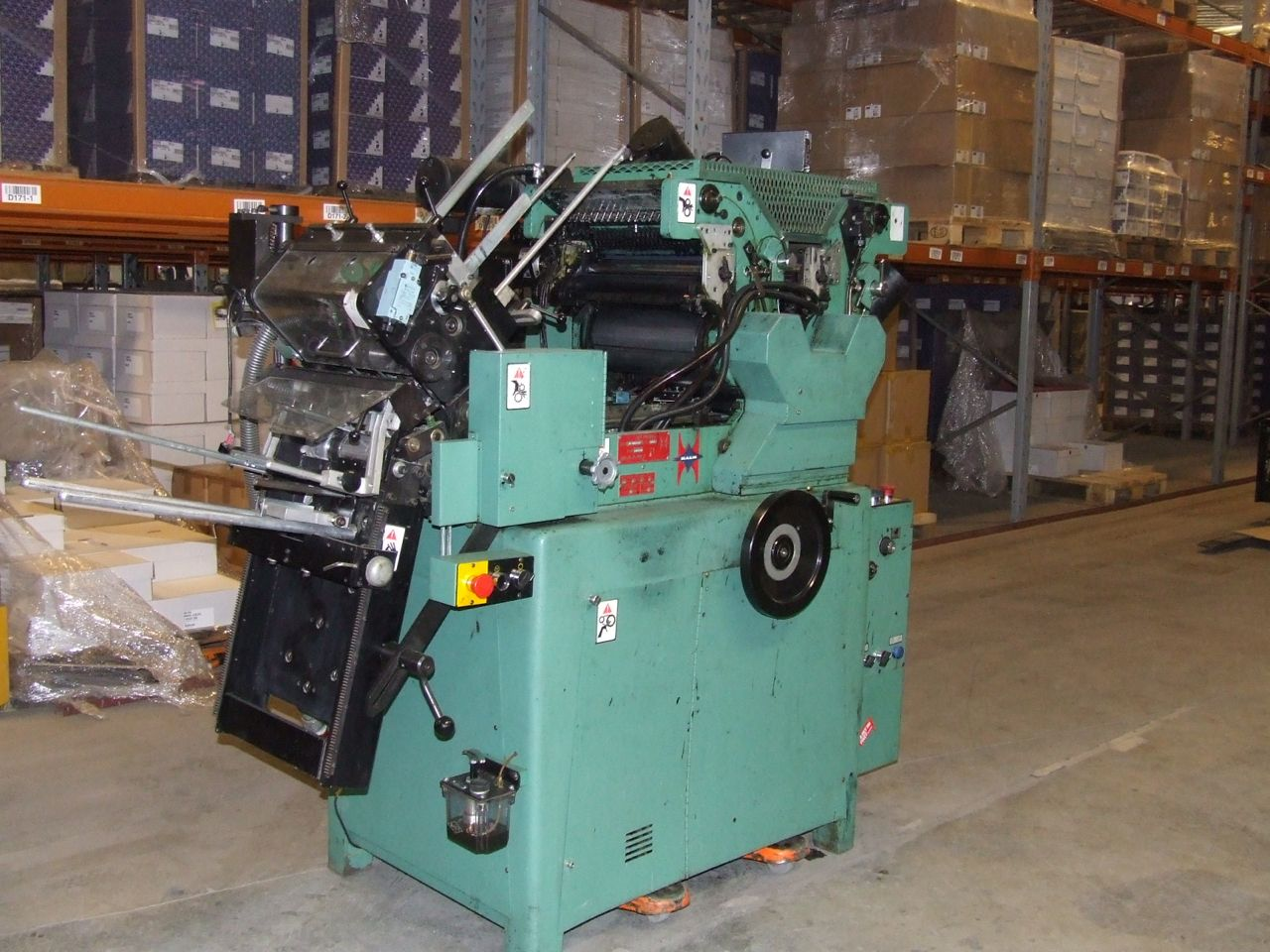 1998 Halm super jet press 2 color perfector AS IS machine sn 6023