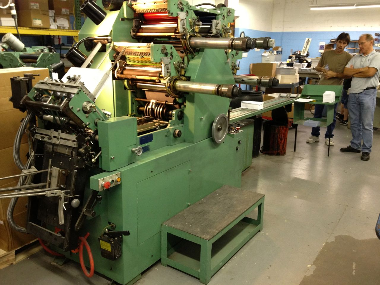 4 color Halm jet press model JP-FWOD sn 3337 max size 9×12″ reconditioned in 2010 sold AS IS excellent condition