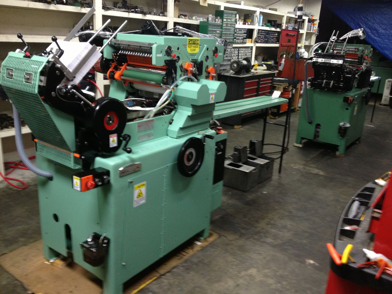HALM JET PRESS REBUILT IN MARCH 2013 LIKE NEW model JP-TWOD-P sn 3638