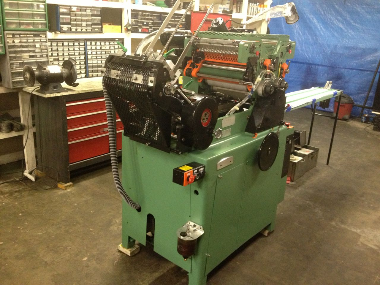 HALM JET PRESS sn 2845 model JP-TWOD-P rebuilt from the frame up LIKE NEW
