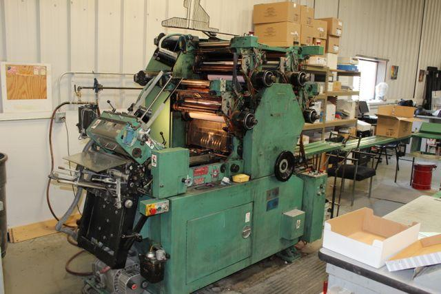 1994 WIDE four color Halm 4 colour envelope printing machine model JP-FWOD-W sn FC5202