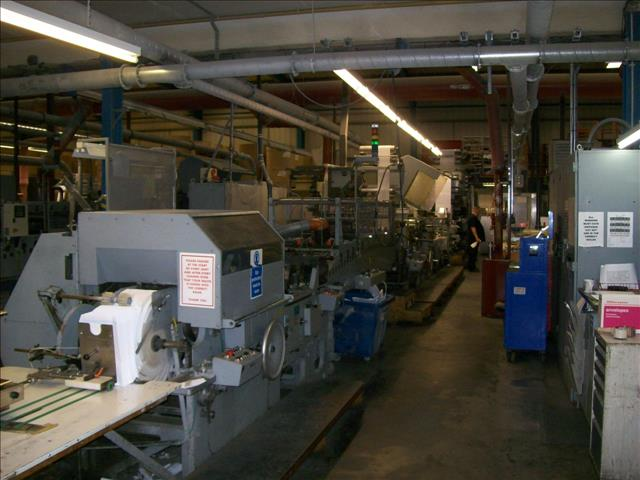 1995 WINKLER+DUNNEBIER 249.00 web fed machine to manufacture open end envelopes pockets with peal and seal W+D249