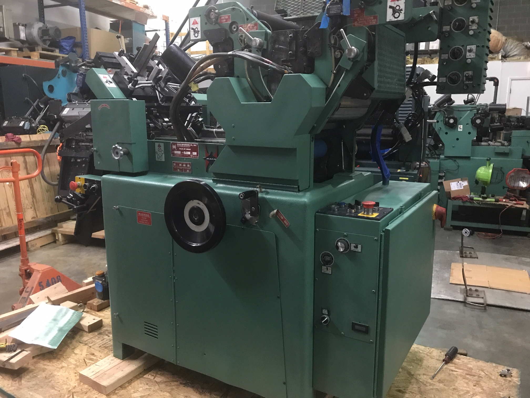 2013 Halm super jet press 2 col perf mdl JP-TWOD-6D sn 374rm REBUILT LIKE NEW