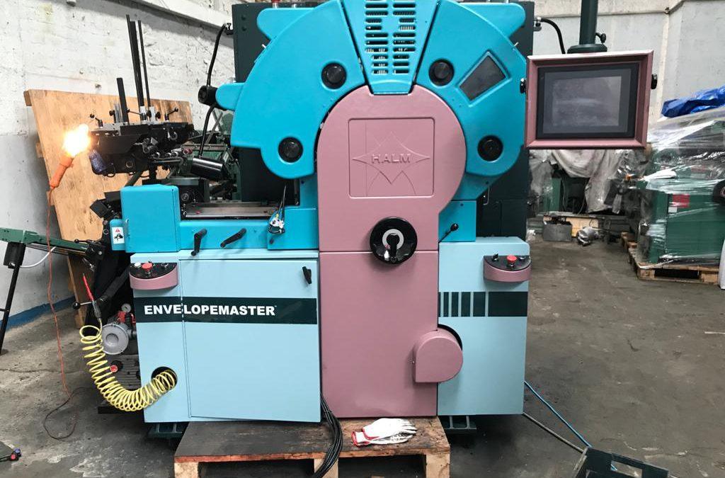 2021 REBUILT HALM EM4000 four color envelope press wider model dual feeder